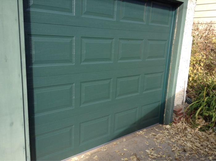 8x7 Stratford Short Panel Green In St. Paul A Garage Door ...